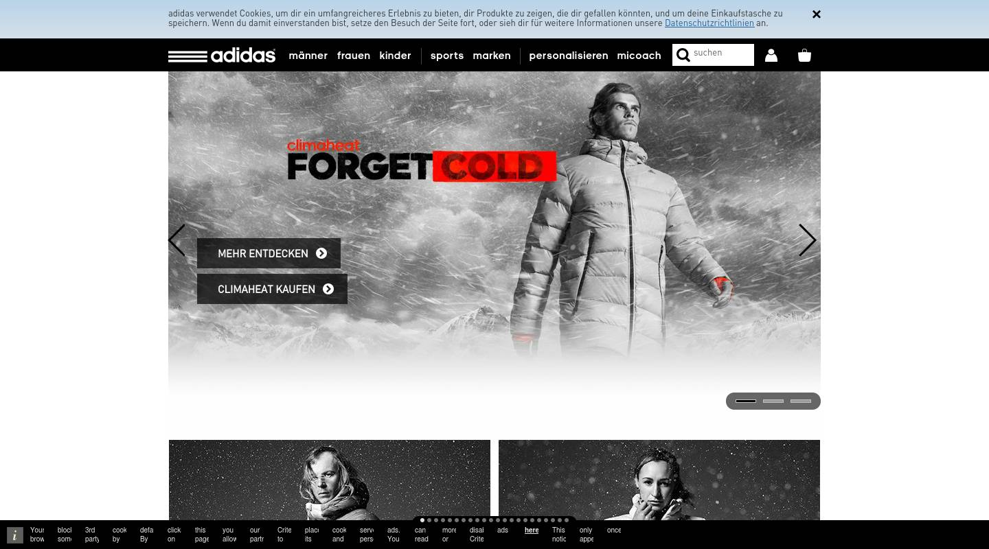 adidas fashion clothing stores in germany berlin shopping in germany. Black Bedroom Furniture Sets. Home Design Ideas